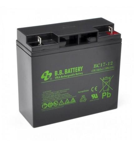 Acumulator stationar, plumb acid, VRLA, pentru UPS, jucarii, masinute, barcute, alarme, 12V 17Ah, B.B.