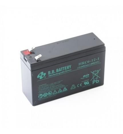 Acumulator stationar 12V 6Ah BB High Rate/UPS echivalent 12V 7Ah Slim NP7-12S
