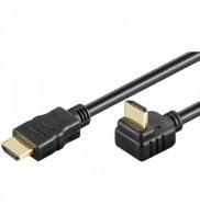 Cablu HDMI - HDMI V1.4 High Speed Ethernet 2 m Goobay 90 grade