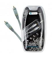 Cablu coaxial 1RCA-1RCA argintiu 75 ohm Cabletech 0.5 m