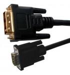 Cablu Digital DVI tata - VGA mama 3m Cabletech KPO3702-3