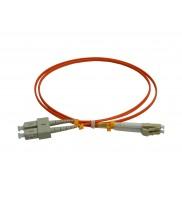 Patchcord FO SC/PC-LC/PC, MM OM2 50/125, manta LSZH 2.0mm, duplex 15m