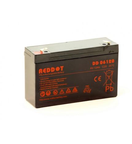 Acumulator stationar 6V 12Ah, F2/T2, Reddot