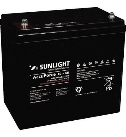 Acumulator stationar 12V 55Ah Sunlight