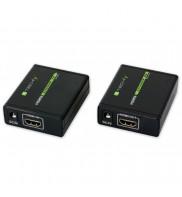 Extender HDMI / prelungitor HDMI, pana la 60 m, prin cablu cat. 5e/6/6A/7, Full HD, IDATAEXT-E70, 309739