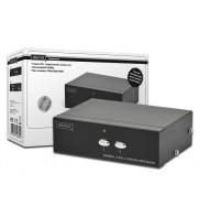 Switch VGA Profesional, 2 intrari - 1 iesire, 250MHz 1280x1024p SXGA, alimentator inclus, Negru