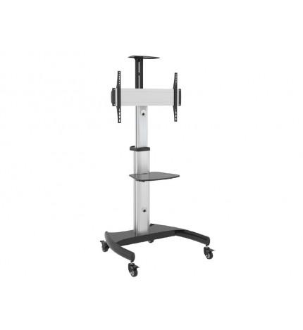 Stand TV profesional din aluminiu, 32 - 70 inch, reglabil pe roti, maxim 50kg , VESA maxim 600x400, Maclean MC-801