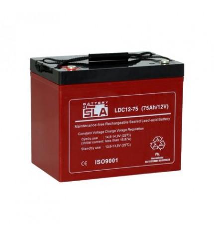 Acumulator stationar, 12V 75Ah, ciclic, pentru vehicule electrice, carucioare cu rotile, VRLA