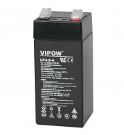 Acumulator stationar VRLA - AGM, plumb acid sigilat, 4V 4.9Ah, Vipow