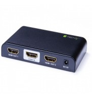 Splitter HDMI activ, versiunea 2.0, alimentator inclus, Techly, 4K, 1 intrare, 2 iesiri,  Negru