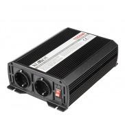 Invertor de tensiune Kemot URZ3169 12V/230V 1000W, 2 iesiri