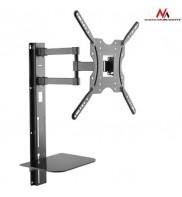 Suport TV de perete universal, cu raft de sticla DVD, 32 - 55 inch, Negru, MACLEAN, MC-772
