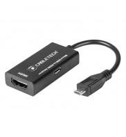 Cablu adaptor MHL Micro USB - HDMI Full HD KOM0933