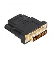 Adaptor DVI tata, 24+1, - HDMI mama, Conectori Auriti ZLA0619