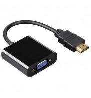 Adaptor, convertor semnal HDMI (digital) la VGA (analog) HDMI A tata la VGA mama - fara sunet, unidirectional