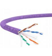 Cablu U/UTP cat.6, manta LSZH, Euroclass Dca-s2,d2,a1 - 305m/tambur, Violet - Molex