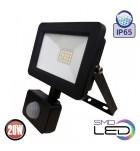 Proiector LED Horoz, cu senzor PIR, 20W (160W), 1600 lm, A++, IP65, 6400K, ASLAN/S20