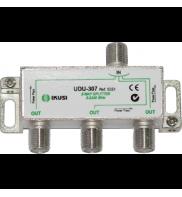 Splitter TV profesional, PowerPass, 1 intrare - 3 iesiri, 5-2450 Mhz, IKUSI UDU-307