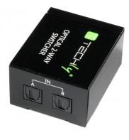 Switch HDMI audio TOSLINK activ , alimentator inclus, 2 porturi, 2 intrari - 1 iesire , Negru, TECHLY,  IDATA TOS-SW2