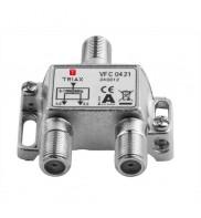 Splitter 2 iesiri 5-1200 MHz, CATV cu DOCSIS 2.0 / 3.0 / 3.1, Triax, seria PLATINUM - VFC 0421