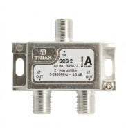 Splitter 2 iesiri 5-2400 MHz, Triax, seria SILVER - SCS 2