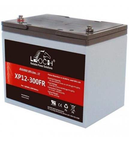 Acumulator stationar, 12V 82Ah, AGM / VRLA, ULTRA HIGH RATE, Leoch, XP12-300