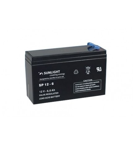 Acumulator stationar 12V 6Ah Sunlight echivalent 12V 7Ah Slim NP7-12S
