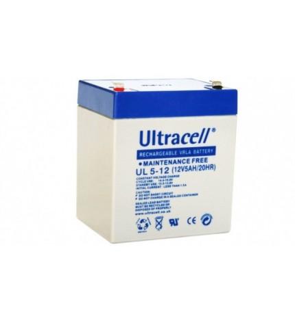 Acumulator stationar 12V 5Ah, borne F1 / T1 , (4.3mm), Ultracell