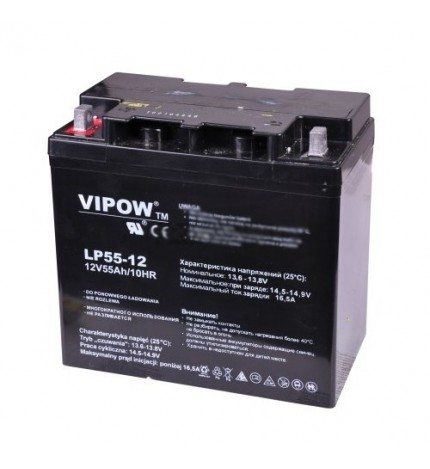 Acumulator stationar Vipow 12V 55Ah