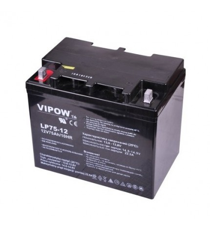 Acumulator stationar Vipow 12V 75Ah