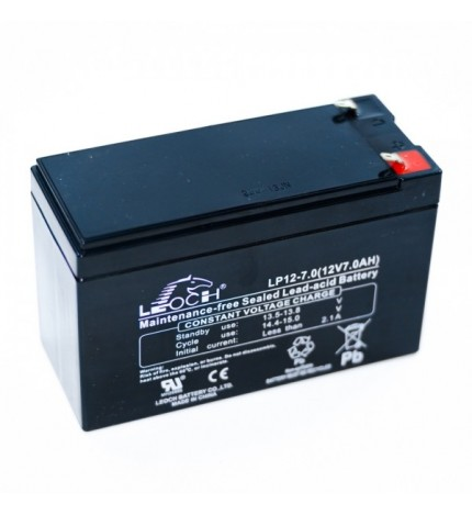 Acumulator stationar, plumb acid sigilat, VRLA / AGM, 12V 7Ah, borne F2/T2